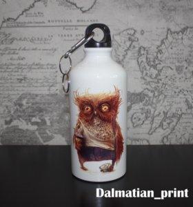 Фляжка-бутылка с печатью