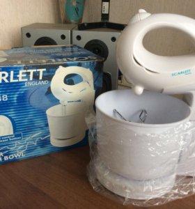 Миксер scarlett SC-048 (с чашей) новая + подарок