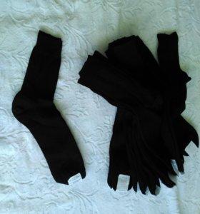Носки мужские хлопчатобумажные черные
