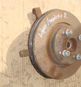 Кулак поворотный передний правый Renault Logan