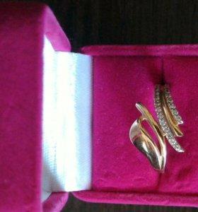 Золотое кольцо.Вставка фианит.