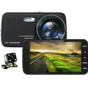 Новый Видеорегистратор с 2 Камерами