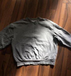Серый oversize свитшот/толстовка/кофта topman