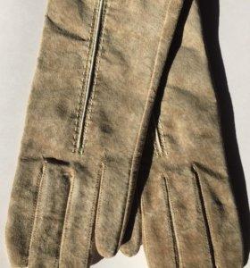 Перчатки замшевые новые