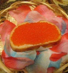 Бутерброд с икрой, мыло ручной работы