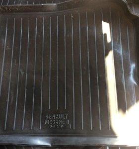 Ковер в багажник Рено Меган 2 седан
