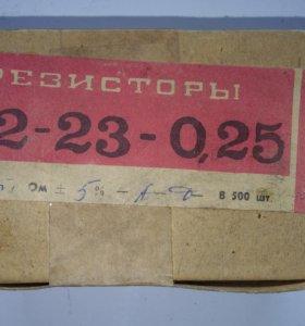 Резисторы в коробках