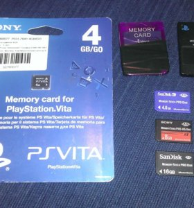 Продам карты памяти на приставки PlayStation