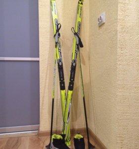 Спорт-лыжи, ботинки, палки