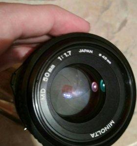 Японский объектив Minolta 50 mm f.1.7