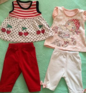 Одежда пакетом на девочку до 6 месяцев