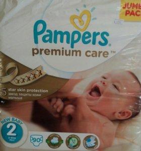 Подгузники Pampers premium care р 2