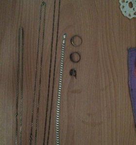 Продам серебрянные б/у украшения