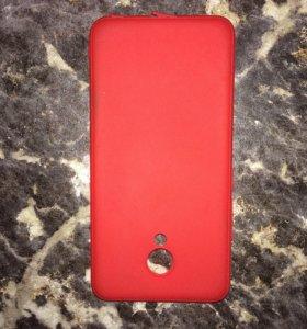 Чехол на meizu m5 цвет красный