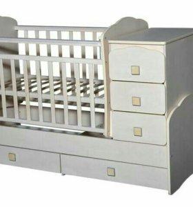 Новая кроватка-трансформер Ульяна-2 + матрас