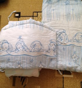 Бортик на кроватку,одеяло,подушка,балдахин!
