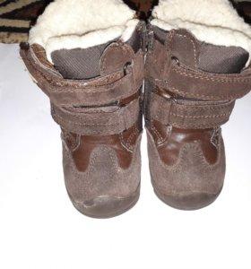Ботинки зимние.замшевые