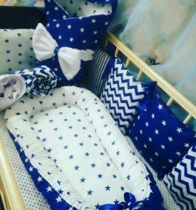 Конверты,подушки,бортики,коконы для новорожденных