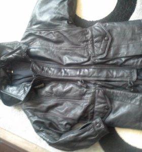 новая кожаная куртка для мальика