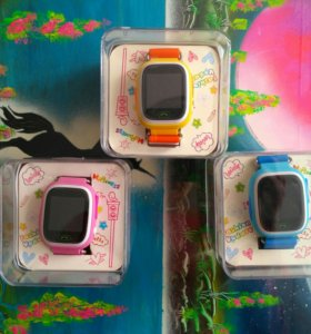Новые! Детские умные часы GPS с телефоном! Q90.