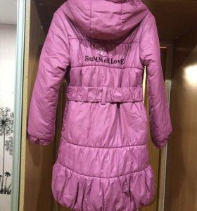 Пальто на девочку 9 лет (весна - осень)