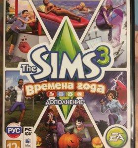 "Диск игра the sims 3 дополнение ""Времена года"""