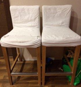 Барные стулья Икеа 2 шт хенриксдаль
