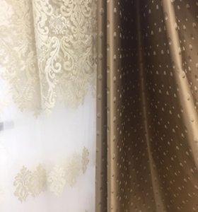 Комплект тюли и штор