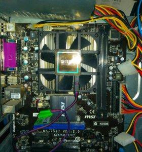 Материнка GF615M-P33V2.процессор Athlon 255 x2 3.1