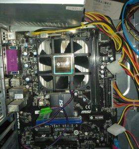 Материнка GF615M-p33V2+процессор Athlon 255 X2