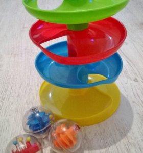 Башня PlayGo спираль с шариками