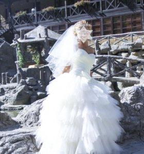 Свадебное платье + фата в тон в подарок