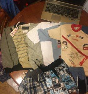 Пакет новых вещей на мальчика 128-134