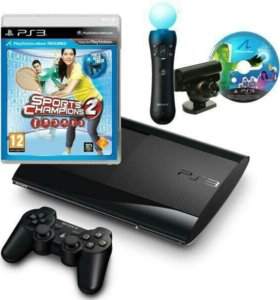 Ps3 Sony PlayStation 3 Super Slim+мувик+камера+д