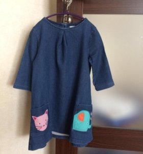 джинсовое детское платье, Next