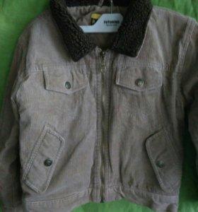 Продам вильветовую курточку. 116 рост.