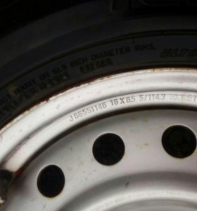 Комплект зимних колес с резиной Goodyear Ice Navi