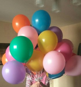Воздушные шарики пастель ассорти