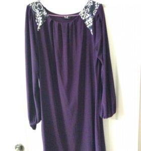 Фиолетово платье 42+