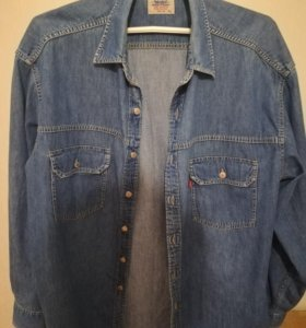 Рубашка джинсовая, р.56-58