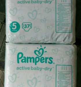 Pampers active baby-dry 5, Памперсы