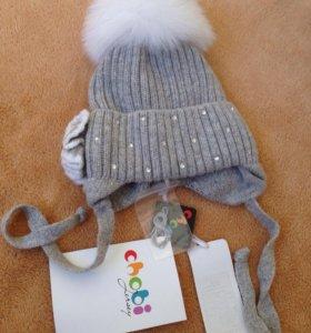 Новая зимняя шапка Chobi 44-46 р