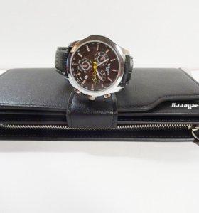 Стильный мужской набор - клатч + часы Tissot