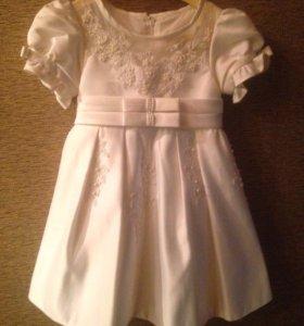 Платье из свадебной парчи