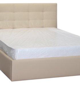 Кровать с мягким изголовьем Акварель