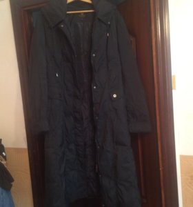 Пальто пуховое чёрное 52-54
