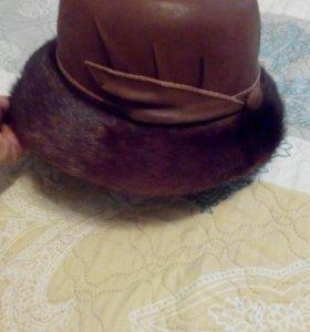 Продам шляпу женскую натуральная кожа