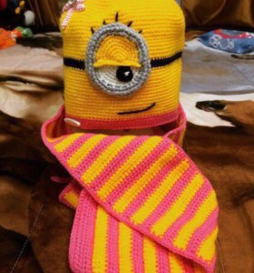 "Шапка+шарф ""Миньон"""