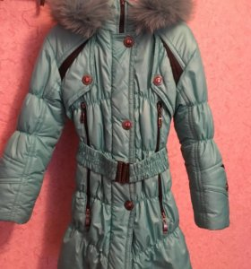 Зимнее пальто на девочку 5-6 лет