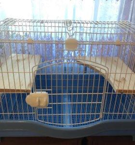 Клетка для кроликов,хорьков,шиншилл